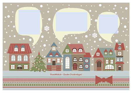 Drucke selbst kostenlose weihnachtskarte zum ausdrucken - Weihnachtskarten drucken gratis ...
