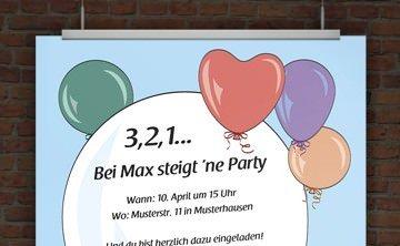 Einladung Ballons
