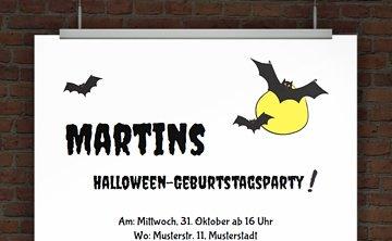 © Druckeselbst! Kostenlose Einladung Halloweenparty