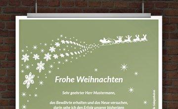 Weihnachtskarte zum Ausdrucken