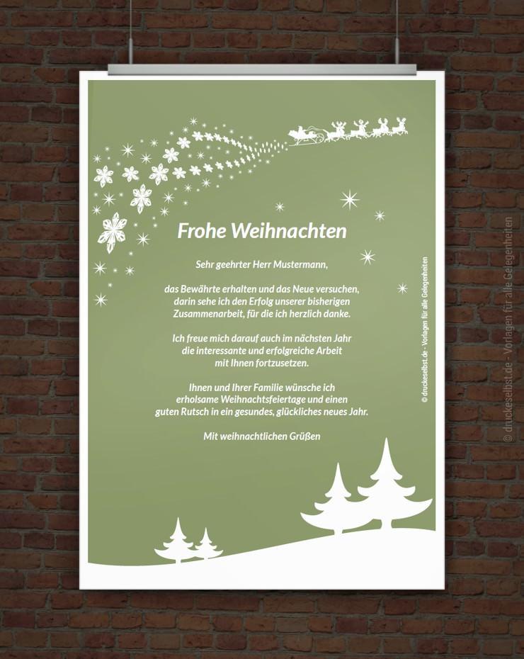 Drucke selbst pers nliche weihnachtsgr e kostenlos - Kostenlose weihnachtskarten versenden ...