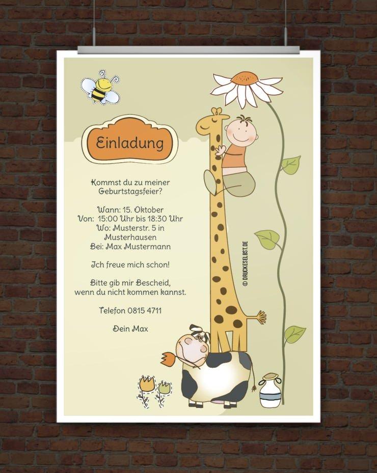 Einladungskarten Selbst Gestalten So Einfach Geht S: Drucke Selbst! Kostenlose Einladung Kindergeburtstag