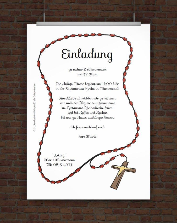 Einladungskarten Selbst Gestalten So Einfach Geht S: Drucke Selbst! Kostenlose Einladung Kommunion