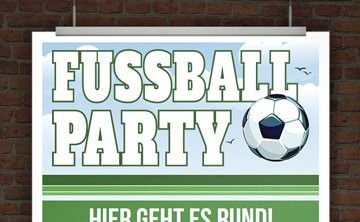 Einladung Fussballparty