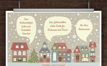 © Druckeselbst! Kostenlose Weihnachtskarte