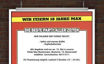 © Druckeselbst! Partyflyer kostenlos gestalten