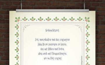 Weihnachtsbrief mit Mustertext