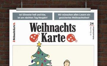 Witzige Weihnachtskarte