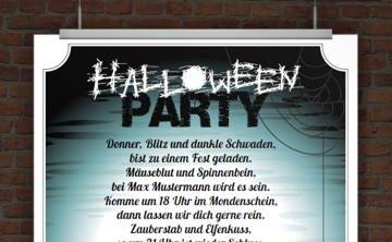 © Druckeselbst! Einladung Halloweenparty