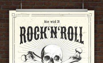 © Druckeselbst! Einladung Rock n Roll