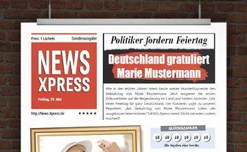 © Druckeselbst! Geburtstagszeitung mit Foto
