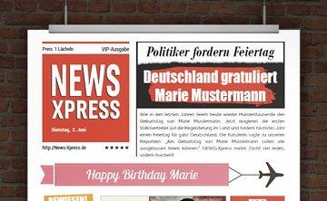 © Druckeselbst! Geburtstagszeitung