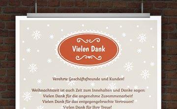 © Druckeselbst! Geschäftliche Weihnachtskarte