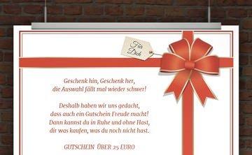 © Druckeselbst! Geschenkgutschein
