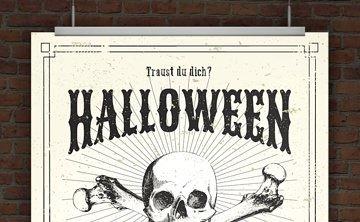 © Druckeselbst! Gruselige Halloweeneinladung