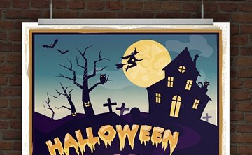 © Druckeselbst! Halloween Flyer