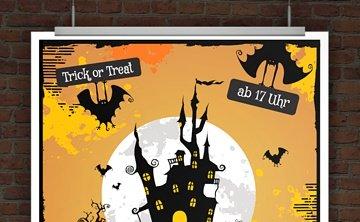 © Druckeselbst! Halloweeneinladung zum Ausdrucken