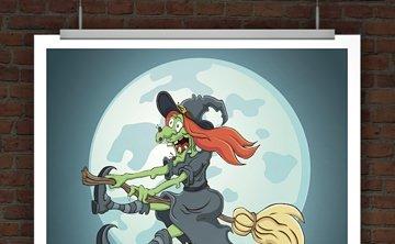 © Druckeselbst! Happy Halloween Karte