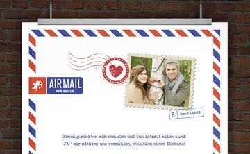 Hochzeitseinladung AIRMAIL