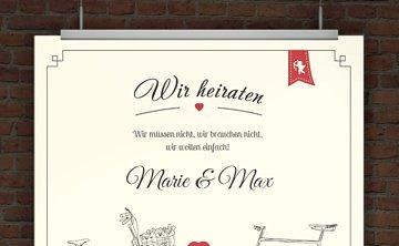 Hochzeitseinladung zum Ausdrucken