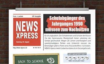 © Druckeselbst! Lustige Einladung Klassentreffen