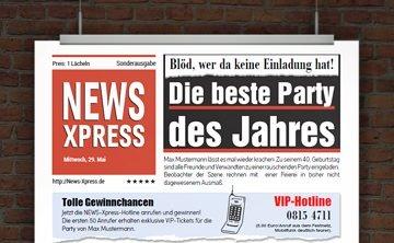 © Druckeselbst! Lustige Gebutstagseinladung