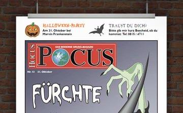 © Druckeselbst! Lustige Halloweeneinladung