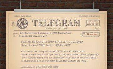 © Druckeselbst! Partytelegramm