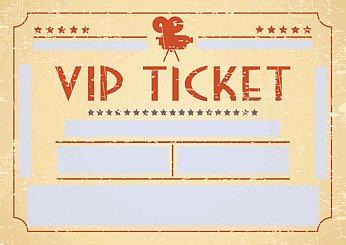 Eintrittskarte Blanko