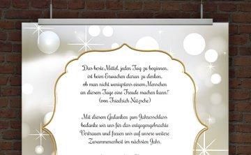 © Druckeselbst! Weihnachtskarte mit Mustertext