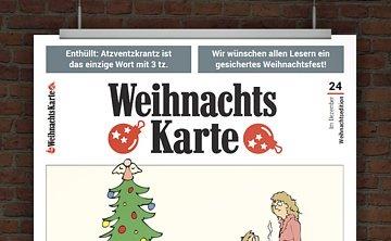 © Druckeselbst! Weihnachtskarte mit lustigen Sprüchen