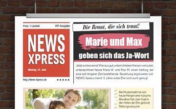 © Druckeselbst! WILD Hochzeitszeitung