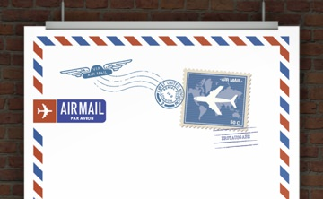 Briefpapier AIRMAIL