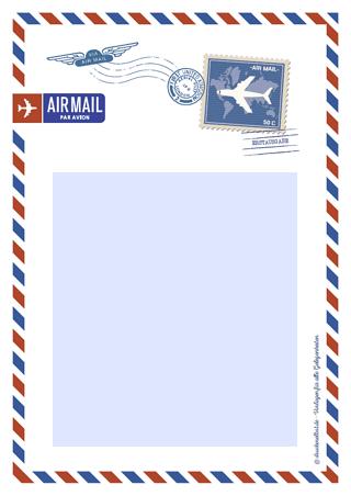 Drucke Selbst Kostenloses Briefpapier Airmail
