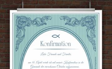 drucke selbst! kostenlose einladung für kommunion und firmung, Einladung