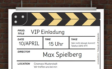 einladungskarten kino – sleepwells, Einladungsentwurf