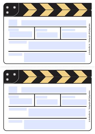 Kostenlose Einladung Filmklappe