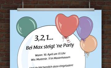 © Druckeselbst! Einladung Geburtstagsparty