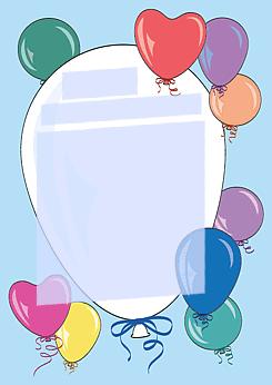 drucke selbst! kostenlose einladung geburtstagsparty mit ballons, Einladung