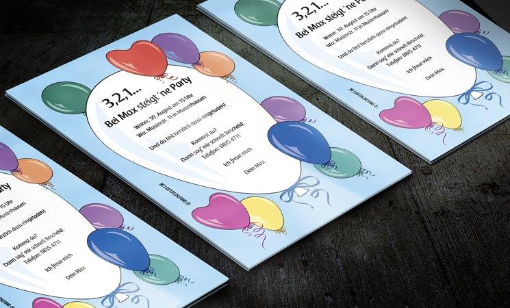 Einladungskarten Richtig Selbst Gestalten So Geht S: Drucke Selbst! Kostenlose Einladung Geburtstagsparty Mit