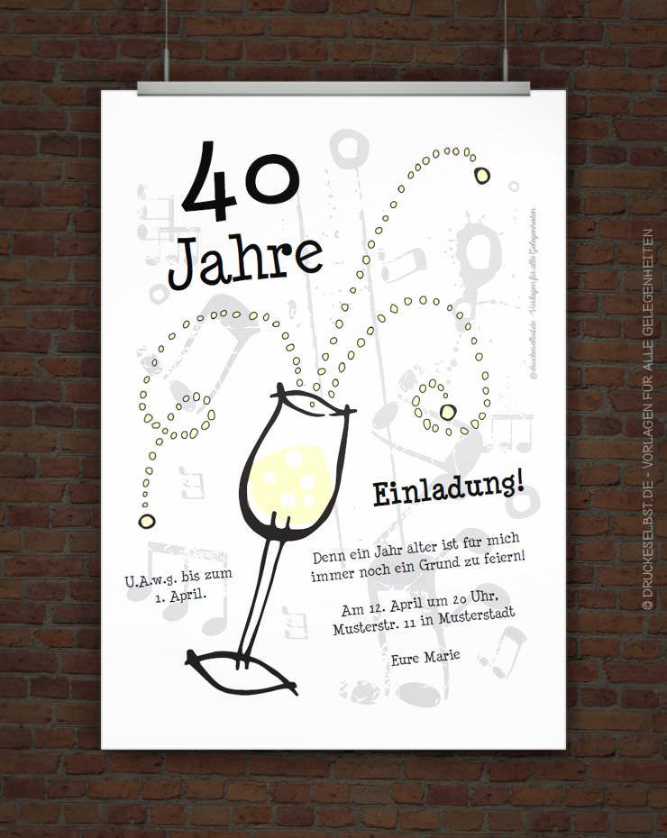 drucke selbst! kostenlose geburtstagseinladung zum ausdrucken, Einladungen