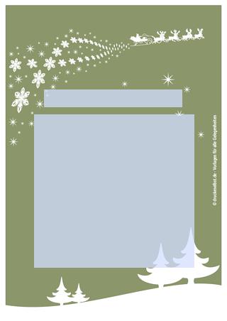 Drucke selbst! Persönliche Weihnachtsgrüße kostenlos gestalten und