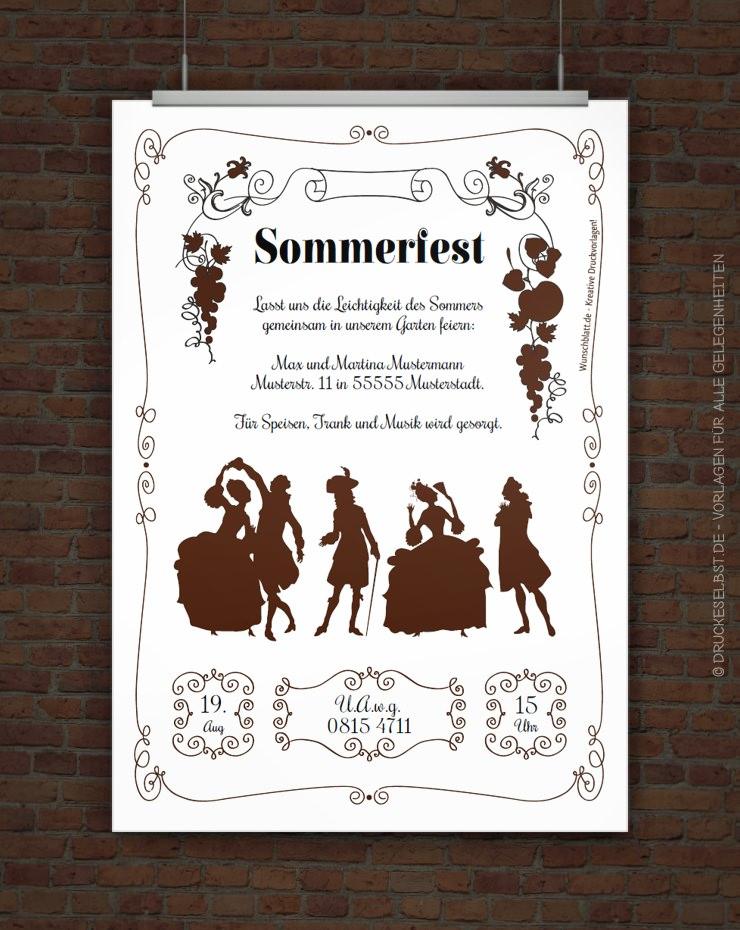 Muster einladung kostenlos sommerfest Einladung sommerfest
