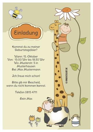 drucke selbst! kindergeburtstagseinladungen kostenlos online gestalten, Einladung