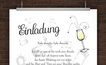 drucke selbst! kostenlose vip einladung zum ausdrucken, Einladung