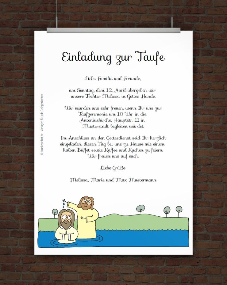 Einladungskarten Selbst Gestalten So Einfach Geht S: Drucke Selbst! Kostenlose Taufeinladung Zum Ausdrucken