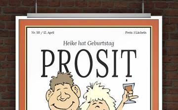 Drucke Selbst Urkunde Alter Sack Und Alte Schachtel Zum