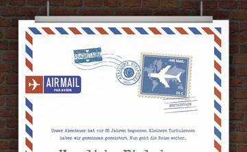lustige einladungskarten zur silberhochzeit - vorlagen, Einladungen