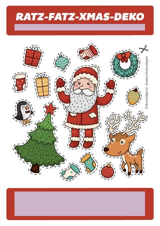 drucke selbst originelle weihnachtskarte kostenlos. Black Bedroom Furniture Sets. Home Design Ideas