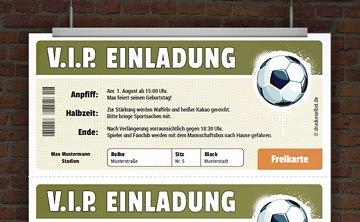 Drucke Selbst Kostenlose Vorlage Fussballeinladung